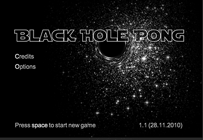 Black Hole Pong Screenshot 1